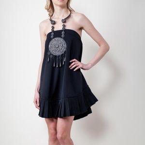 CALVIN TRAN Black Convertible Midi Skirt Dress 2